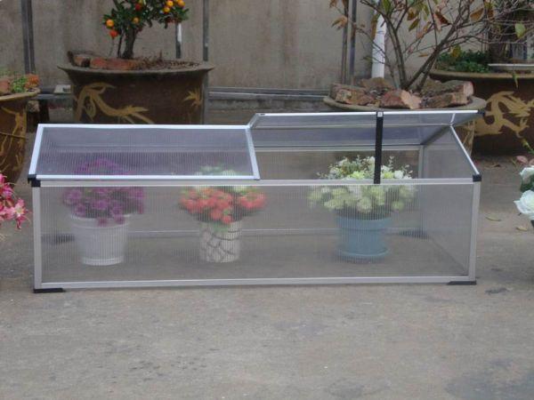 0.72 m2 Mini Çift Kapaklı Hobi Bahçe Serası