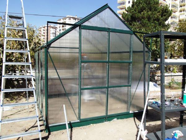 6.7 m2 Çift Kapılı Hobi Bahçe Serası